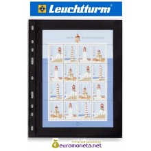 Leuchtturm OPTIMA 1S лист чёрный для банкнот, 2 ячейки