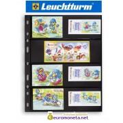 Leuchtturm OPTIMA 4S лист чёрный для банкнот, 8 ячеек