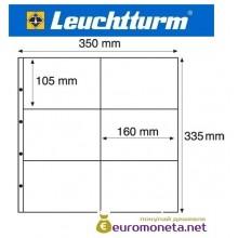Германия Leuchtturm MAXIMUM MAX 2C лист для банкнот, акций, открыток и другого, прозрачный 5 листов