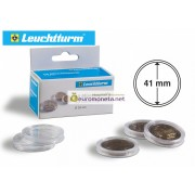 Leuchtturm капсула для хранения монет внутренний диаметр 41 мм, внешний 47 мм, 10 штук
