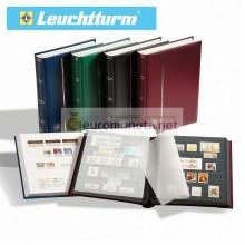 Leuchtturm альбом COMFORT DIN A4 S32 чёрные страницы, мягкая обложка, синий, Германия