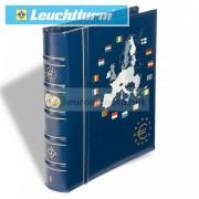 """Leuchtturm Альбом VISTA для монет евро том 1 """"Новые члены"""", вкл. футляр, синий, Германия"""
