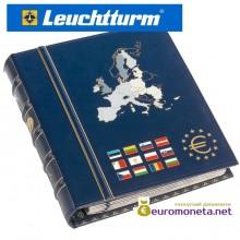 """Leuchtturm Альбом VISTA для монет евро том 2 """"Новые члены"""", вкл. футляр, синий, Германия"""