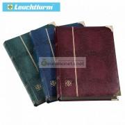 Leuchtturm альбом COMFORT DELUXE DIN A4 S64 чёрные страницы, обложка крокодил, металлические углы, бордовый