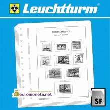 Leuchtturm SF-ФОРМА иллюстрированные страницы с клеммташами для марок России 2010-2012, Германия