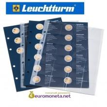 """Leuchtturm дополнительный листы в альбом для монет 2 евро 2013 """"European 2-Euros joint issues coins"""" optima Германия"""