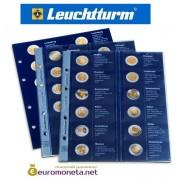 """Leuchtturm дополнительный листы в альбом для монет 2 евро 2013 """"European 2-Euro commermomative"""" optima Германия"""