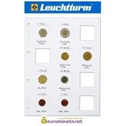 Leuchtturm лист MATRIX для холдеров, 5 листов, белый