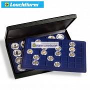 Leuchtturm бокс кейс для монет PRESIDIO TRIO, 90 ячеек, 39х39 мм