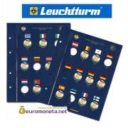 Leuchtturm лист для юбилейных монет 2 евро формат  VISTA OPTIMA 30 лет флага ЕС, 23 монеты