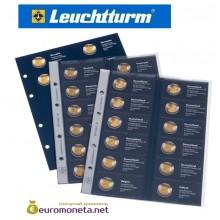 """Leuchtturm дополнительный листы в альбом для монет 2 евро 2015 """"European 2-Euros joint issues coins"""" optima Германия"""
