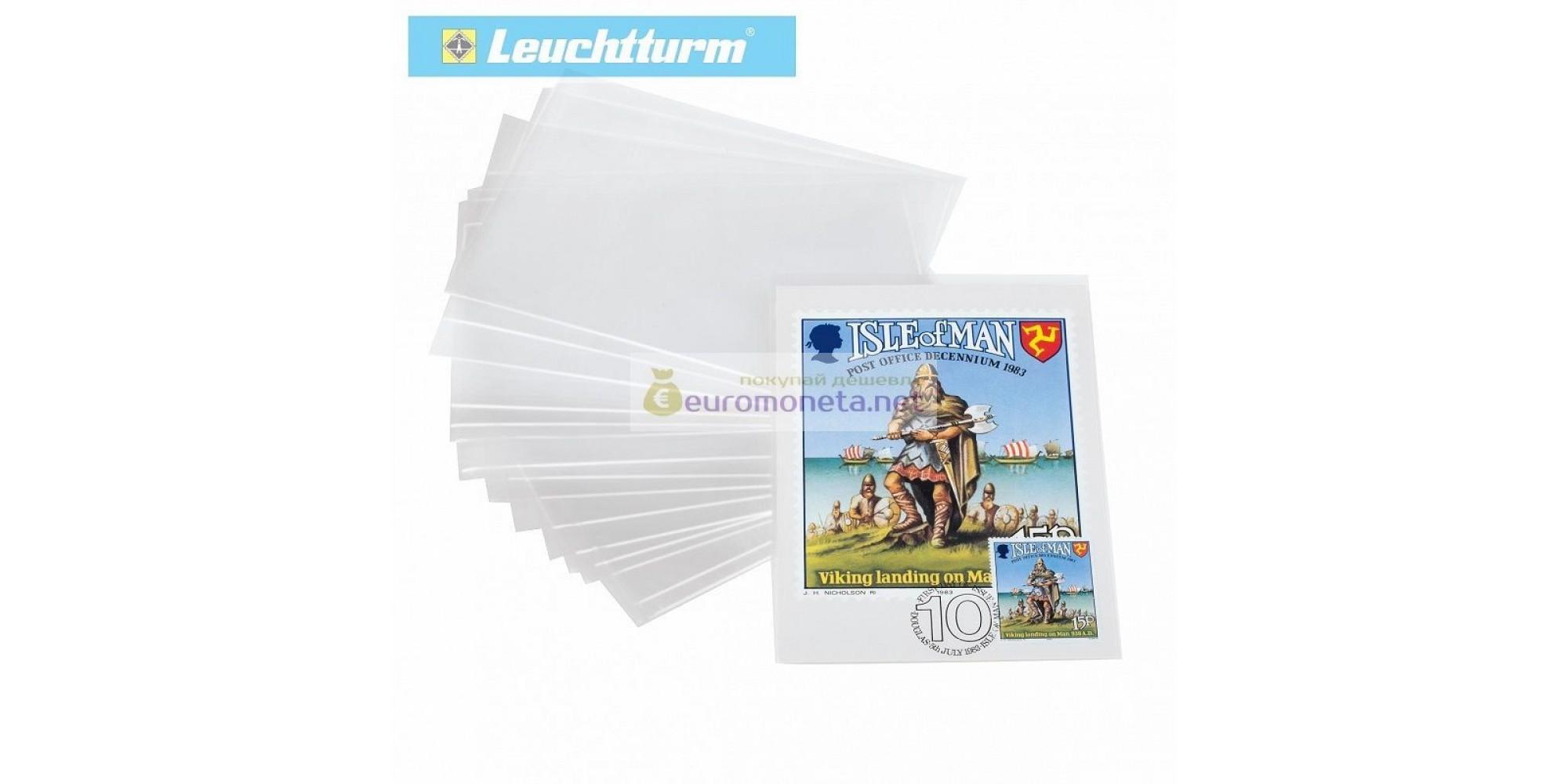Защитный лист-обложка (холдер) для открыток, почтовых карточек, конвертов и прочего (150х107 мм). Упаковка 200 шт. Leuchtturm.