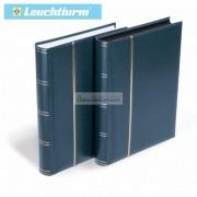 Альбом для 128 открыток, писем, фотографий и прочего, 64 чёрные страницы, Германия Leuchtturm, синий