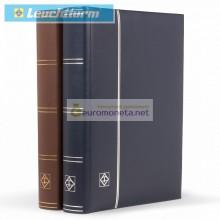 Leuchtturm альбом LEDER DIN A4 S64 чёрные страницы, переплёт из натуральной кожи, синий, Германия