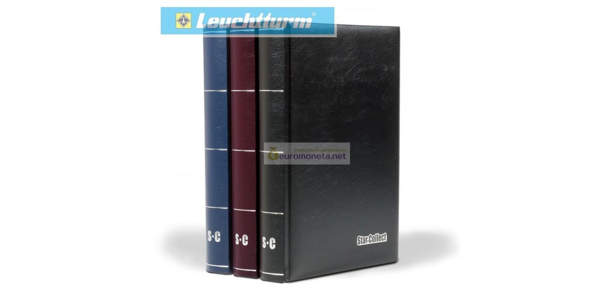 Альбом для марок STAR COLLECT DIN A4 S60 чёрные страницы, мягкая обложка, чёрный, Германия Leuchtturm