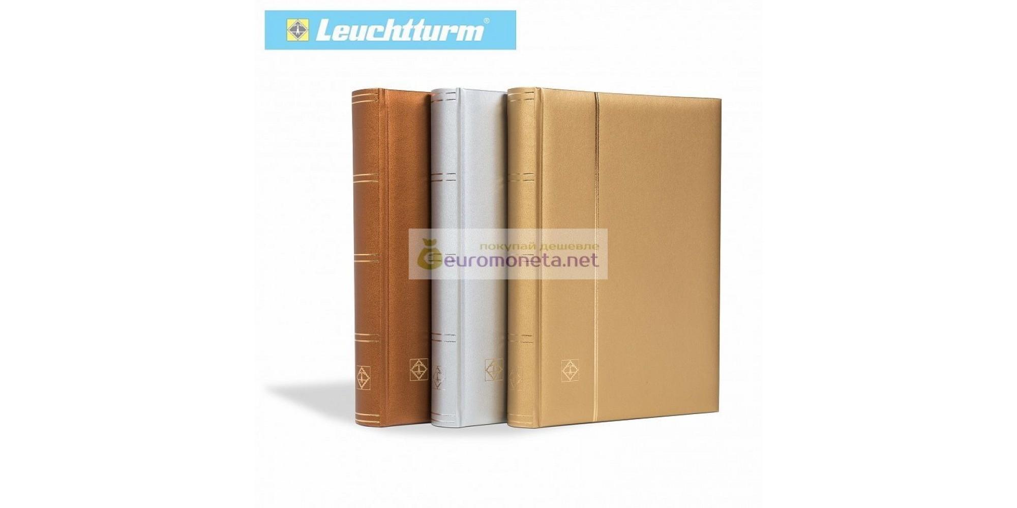 Leuchtturm альбом COMFORT Metallicedition A4 S64 белые страницы, серебро, Германия