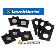 Германия Leuchtturm чёрный холдер 22,5 мм для монет, 25 штук Matrix, самоклеющиеся