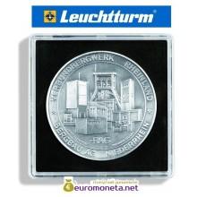 Капсула для монет квадратная 54 мм QUADRUM XL Leuchtturm Германия 67х67