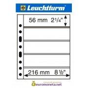 Leuchtturm GRANDE 5S лист чёрный для банкнот А4, 10 ячеек