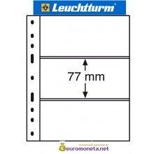 Leuchtturm OPTIMA 3S лист чёрный для банкнот, 6 ячеек, Германия