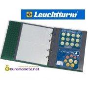 Leuchtturm OPTIMA XL EU 2C лист прозрачный для наборов монет, 2 ячейки, пр-во Германия