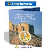 Leuchtturm Альбом для монет PRESSO, США 25 центов (квотер) Национальные парки 2010-2021 гг