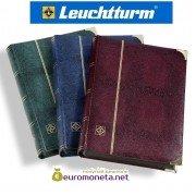 Leuchtturm альбом COMFORT DELUXE DIN A4 S64 чёрные страницы, обложка крокодил, металлические углы, синий
