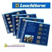 Leuchtturm дополнительный листы в альбом NUMIS для монет 2 евро 2012-2013 гг выпуска