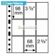 Германия Leuchtturm GRANDE SH312 3/3C лист прозрачный для пластиковых карт А4, 9 ячеек