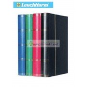 Leuchtturm альбом для марок BASIC DIN A4 S60 чёрные страницы, жёсткая обложка, красный