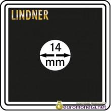 Капсула для монет квадратная CARREE 14 мм Lindner Германия 50х50