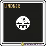 Капсула для монет квадратная CARREE 15 мм Lindner Германия 50х50