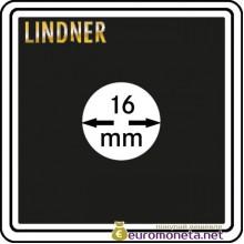 Капсула для монет квадратная CARREE 16 мм Lindner Германия 50х50