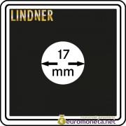 Капсула для монет квадратная CARREE 17 мм Lindner Германия 50х50