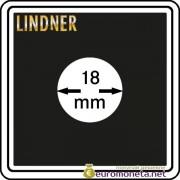 Капсула для монет квадратная CARREE 18 мм Lindner Германия 50х50