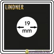 Капсула для монет квадратная CARREE 19 мм Lindner Германия 50х50
