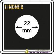 Капсула для монет квадратная CARREE 22 мм Lindner Германия 50х50
