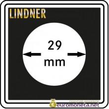 Капсула для монет квадратная CARREE 29 мм Lindner Германия 50х50