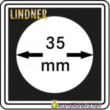 Капсула для монет квадратная CARREE 35 мм Lindner Германия 50х50