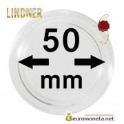 Lindner капсула для хранения монет 50 мм внутренний диаметр, внешний 56 мм, 10 штук, Германия