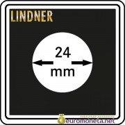 Капсула для монет квадратная CARREE 24 мм Lindner Германия 50х50