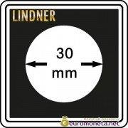 Капсула для монет квадратная CARREE 30 мм Lindner Германия 50х50