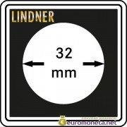 Капсула для монет квадратная CARREE 32 мм Lindner Германия 50х50