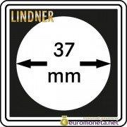 Капсула для монет квадратная CARREE 37 мм Lindner Германия 50х50