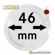 Lindner капсула для хранения монет 46 мм внутренний диаметр, внешний 52 мм, 10 штук, Германия