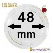 Lindner капсула для хранения монет 48 мм внутренний диаметр, внешний 54 мм, 10 штук, Германия