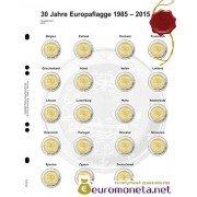"""Lindner Multi Collect (Optima) дополнительный лист для 2 евро памятных монет: общий выпуск """"30 лет европейского флага"""", Германия"""