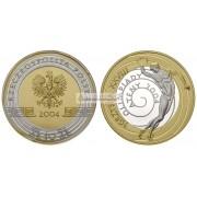 Польша 10 злотых 2004 год Олимпиада в Афинах серебро пруф proof