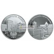 Польша 20 злотых 2007 год Памятники материальной культуры в Польше: Средневековый город в Торуне серебро пруф