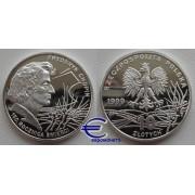Польша 10 злотых 1999 год Фредерик Шопен пруф proof серебро